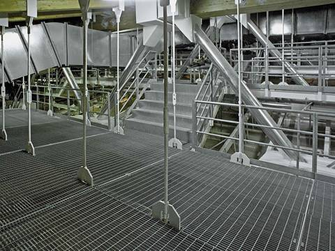light duty steel grating- application as celling